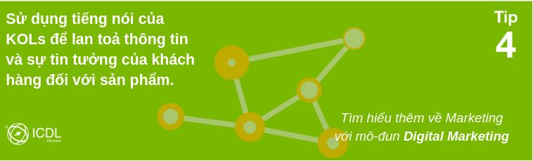 Tip 1- Digital marketing: Quảng cáo dựa vào những người có tầm ảnh hưởng.